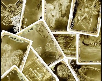 The 16 magic cards from NADE. In this game package, each card serves as a precise talisman, thanks to certain symbols on the illustrations