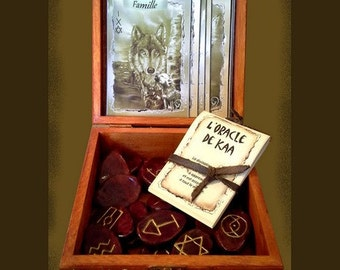 KAA Oracle.  The symbolism of this divination set is taken to Alchemy, astrology and Kabbalah.
