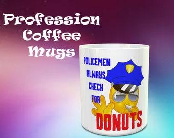 Police Mug, Smile mugs,  Personalized mugs, Custom mugs, Tea mugs, Coffee mugs, Gift mugs, Birthday Mugs,