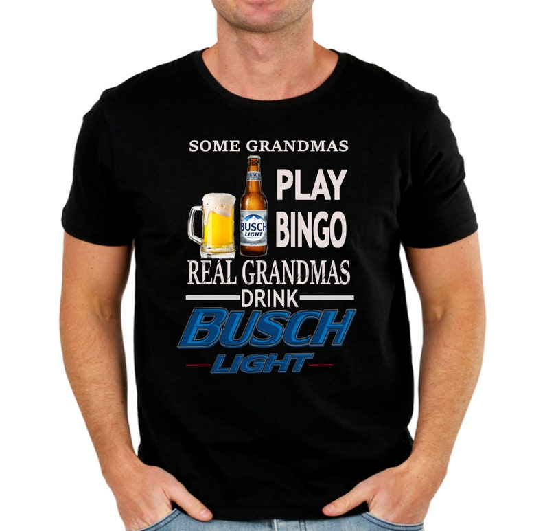 93ab93c511 Busch Light Beer T-Shirt with Grandmas Drink Busch Light logo | Etsy