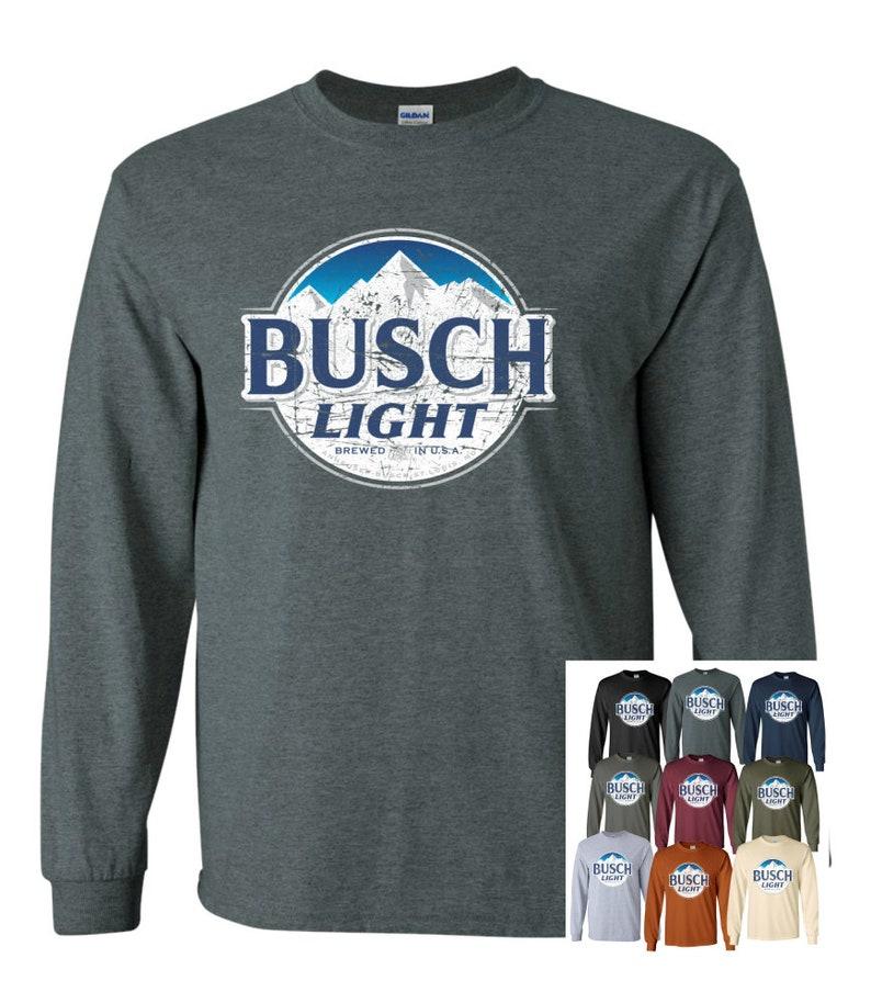 0b807f604 ... busch light beer long sleeve t shirt uni long tee shirt etsy ...