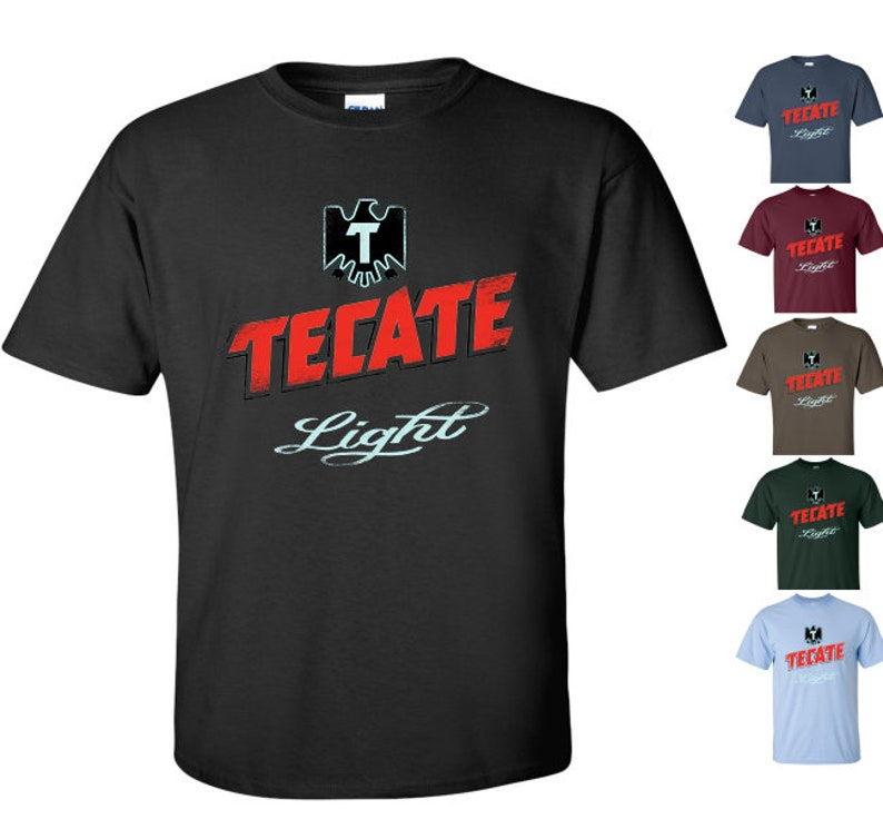 7f7681bc479 Tecate Light Beer T-Shirt Unisex Tee Shirt Worn Label Pattern | Etsy