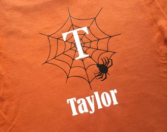 Personalized Halloween Spider Web