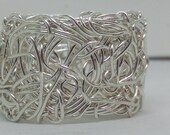 Whirlwind Ring silver filed wire