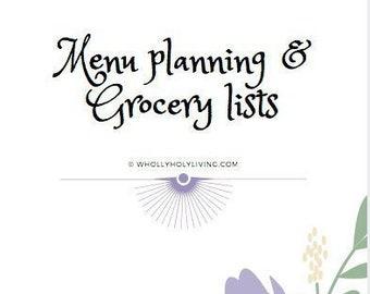 Meal Planning & Grocery List Traveler's Notebook Insert