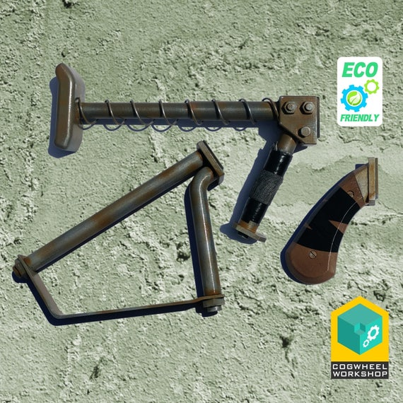 cogmod stock grip for pipe weapons fallout 3d printed etsy