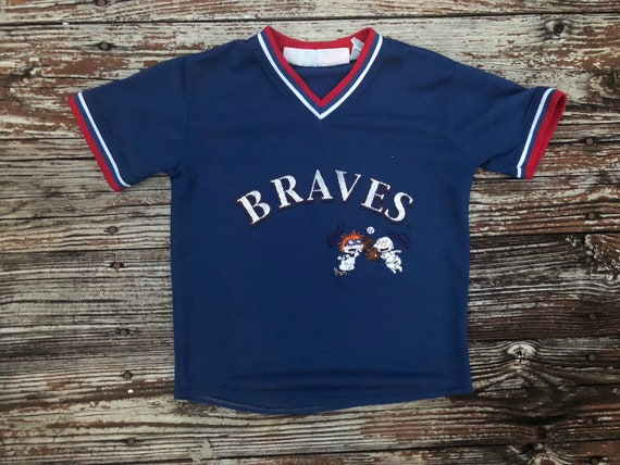promo code 7999b ec8bd Vintage 90's Atlanta Braves Rugrats tommy kids jersey youth 6