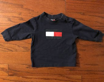 Vintage 90's Tommy Hilfiger baby long sleeved shirt