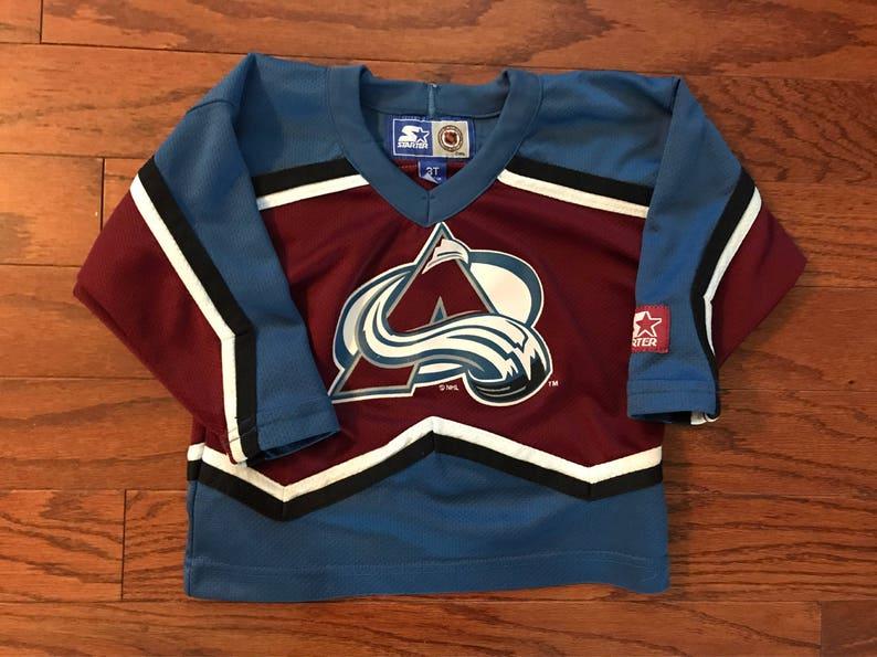huge discount e3c14 1b2bd Vintage Colorado Avalanche NHL Starter jersey