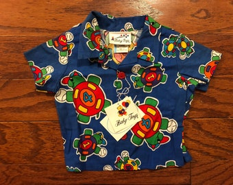 Vintage baby button up colorful shirt