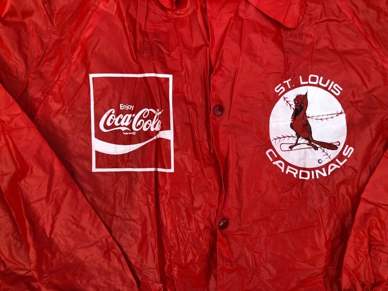 Louis Cardinals rain jacket Vintage 90\u2019s kids Coca Cola youth size youth small 78 St