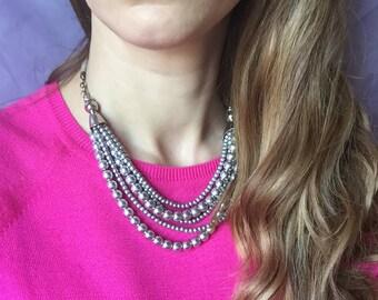 Necklace Metallic Colors
