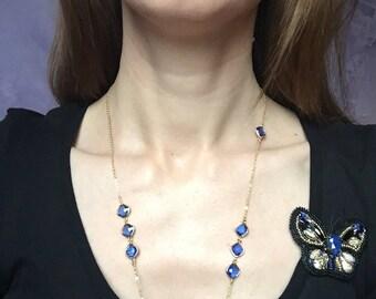 Necklace Blue/Gold