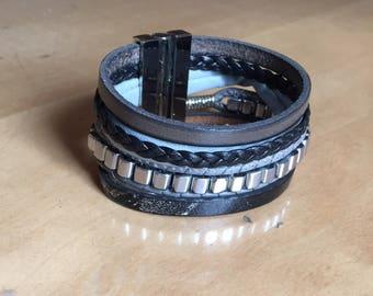 Leather Bracelet large cap