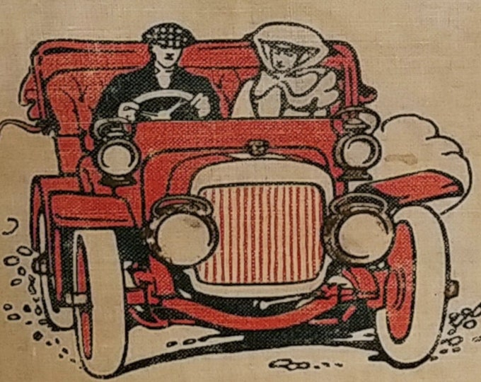 The Scarlet Car by Richard Harding Davis - Frederic Dorr Steele - Antique Book, Vintage Automobiles, 1900s