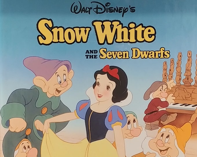 Disney's Snow White and the Seven Dwarfs - 1993 Edition - Vintage Child Book, Vintage Disney Book, Disney Classic Series, Mouse Works