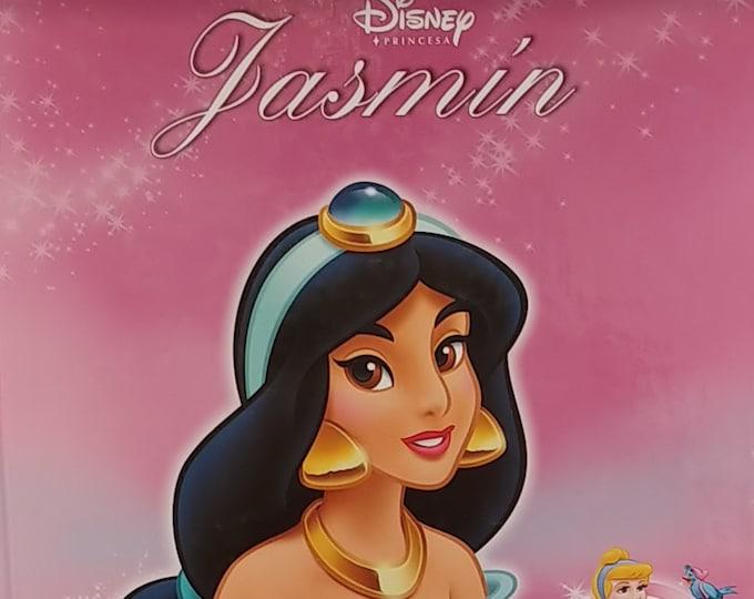 Disney's Jasmin - 2005 Spanish Language Edition - Vintage Disney Book, Disney Princesa Book, Aladdin and the Magical Lamp