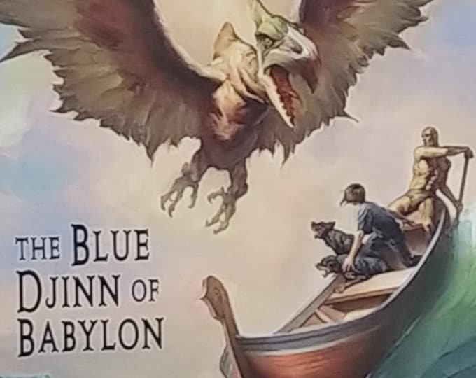 The Blue Djinn of Babylon by P B Kerr - Children of the Lamp - First Edition Children's Books