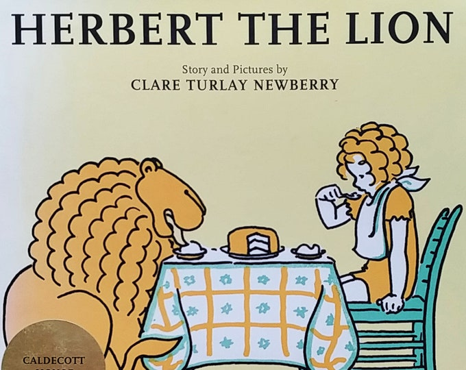 Herbert the Lion by Clare Turlay Newberry - 1998 Smithmark Edition - First Edition Children's Books - Vintage Book, Newbery Author