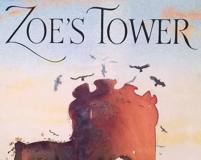 Zoe's Tower - Paul & Emma Rogers, Robin Bell Corfield - First Edition Children's Books, Kids Books, England, Castle, Watercolor, Landscape