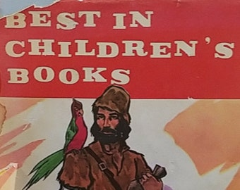 1959 The Best in Children's Books Vol 27 - First Edition Children's Books - Vintage Child Book, Nelson Doubleday Publisher, 1950s