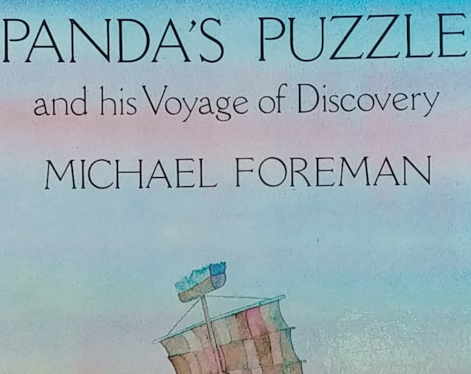 Panda's Puzzle and his Voyage of Discovery by Michael Foreman - Children's Books - Vintage Book, Kate Greenaway Award, 1980s