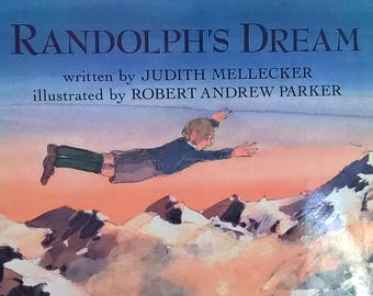 Randolph's Dream by Robert Andrew Parker, Judy Mellecker - First Edition Children's Books - Vintage Child Book, England, The Blitz