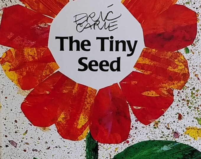 The Tiny Seed by Eric Carle - First Edition Children's Books - Vintage Book, 1980s