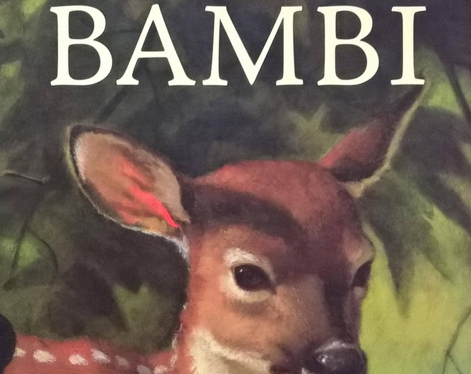 Bambi - Life in the Woods by Felix Salten, Janet Schulman, Lou Fancher, Steve Johnson - First Edition Children's Books - Vintage Child Book