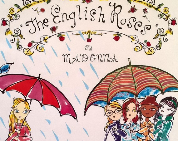 The English Roses by Madonna - Jeffrey Fulvimari - Children's Books - First Edition, Story Book, Kabbalah, London, Friendship, Teachers