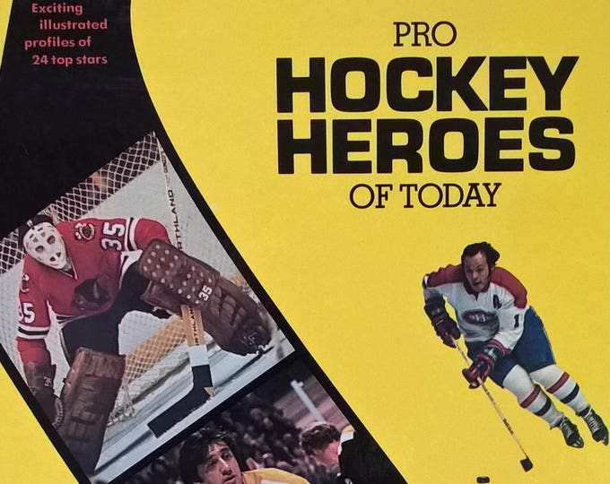 Pro Hockey Heroes of Today - Bill Libby - First Edition