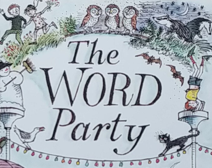 The Word Party by Richard Edwards - First Edition Children's Books - Vintage Book, Poetry for Kids, John Lawrence