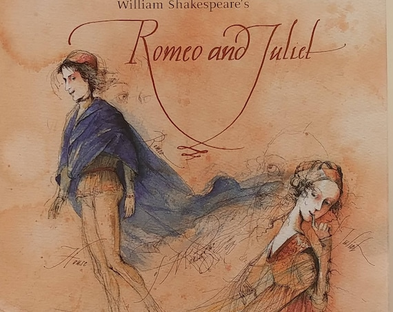 William Shakespeare's Romeo and Juliet - Barbara Kindermann, Christa Unznier - Children's Book, First Edition, Shakespeare Plays