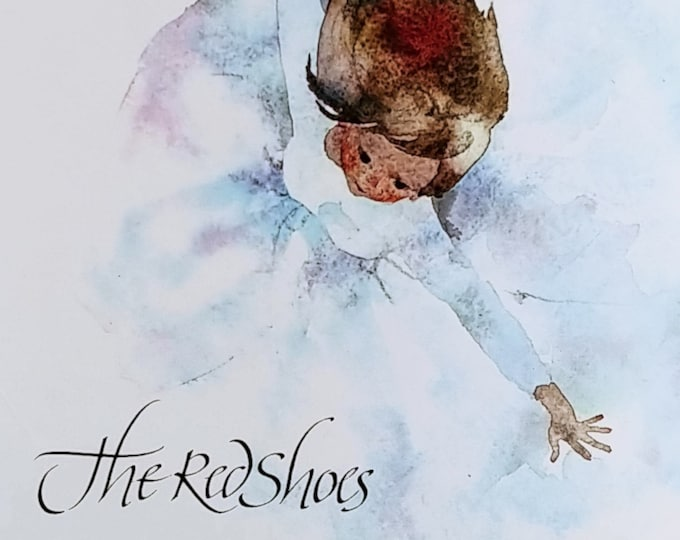 The Red Shoes by Hans Christian Andersen - Chihiro Iwasaki - First Edition Children's Books - Vintage Book, Folk Tales, Japanese Artists