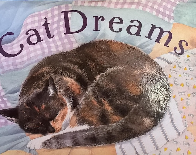 Cat Dreams by Ursula K Le Guin, SD Schindler - Children's Books - First Edition, Picture Book, Bedtime Stories, Cats