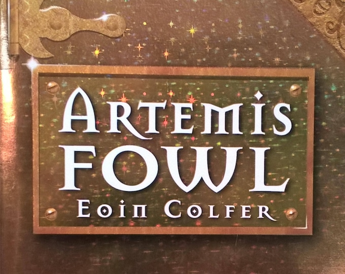 Artemis Fowl by Eoin Colfer - First Edition Children's Books - Vintage Book, Mystery Book, Fairies, Pixies