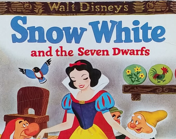 1974 Big Golden Book Snow White and Seven Dwarfs - First Edition Children's Books - Vintage Child Book, Walt Disney, 1970s