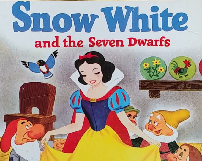 Walt Disney's Snow White and the Seven Dwarfs - First Edition Children's Books - Vintage Book, Golden Book, Fairy Tales, 1970s