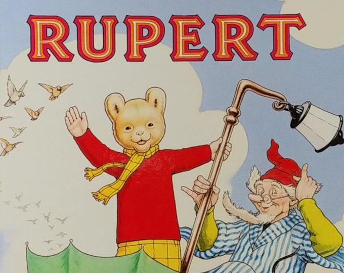 1988 Rupert Bear Daily Express Annual - First Edition Children's Books - Vintage Child Book, Text Comics, John Harrold