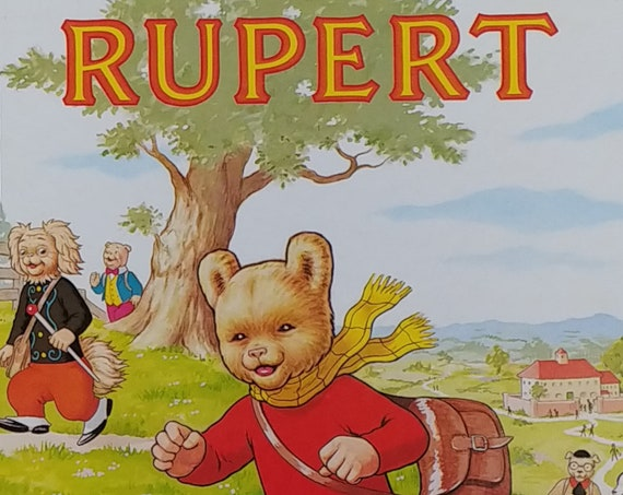1984 Rupert Daily Express Annual - First Edition Children's Books - Vintage Book, Kid Book, Text Comics, John Harrold, 1980s