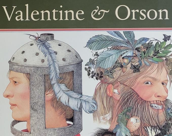 Valentine & Orson by Nancy Ekholm Burkert - 1989 First Edition - Vintage Child Book, Folk Play