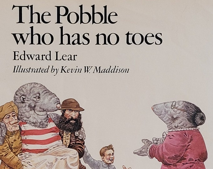The Pobble Who Has No Toes by Edward Lear - 1977 First Edition - Vintage Child Book, Children's Rhyming Poems