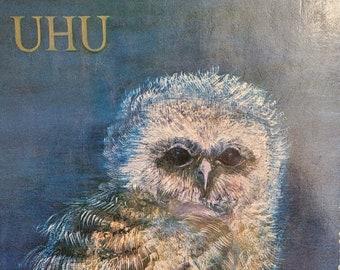 Uhu by Annette Macarthur-Onslow - 1969 First Edition Child Book - Vintage Book, Children's Nature Book, Tawny Owls, Rescue Animals