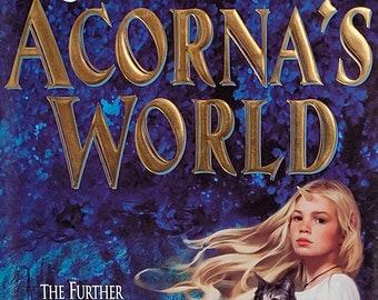 Acorna's World by Anne McCaffery, Elizabeth Ann Scarborough - 2000 First Edition - Vintage Fantasy Book
