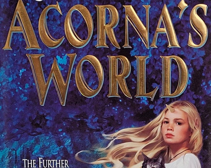 Acorna's World by Anne McCaffery, Elizabeth Ann Scarborough - 2000 First Edition - Vintage Fantasy Book