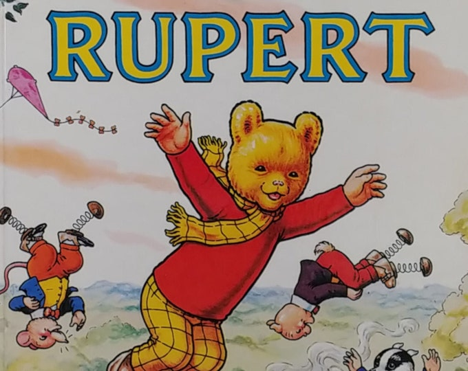1982 Rupert Bear Daily Express Annual - First Edition Children's Books - Vintage Child Book, Text Comics, John Harrold, 1980s