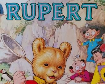 1986 Rupert Bear Daily Express Annual - First Edition Children's Books - Vintage Child Book, Text Comics, John Harrold, 1980s