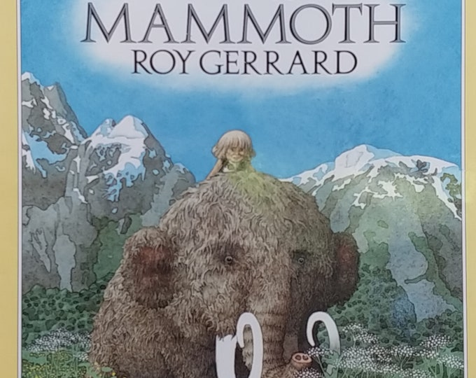 Mik's Mammoth by Roy Gerrard - First Edition Children's Books - Vintage Book, Child Book, Prehistoric Mammoth, 1980s