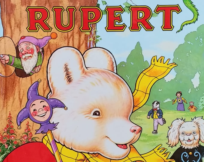 1993 Rupert Bear Daily Express Annual No 58 - First Edition Children's Books - Vintage Child Book, Vintage Comics, Text Comics, John Harrold