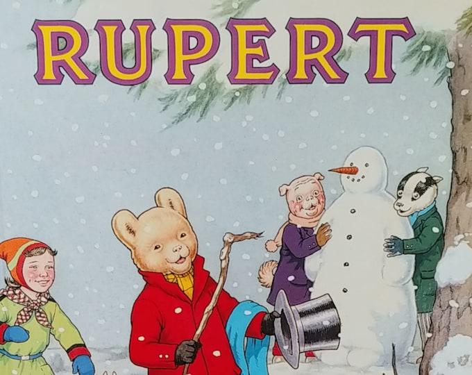 1989 Rupert Daily Express Annual No 54 - First Edition Children's Books - Vintage Book, Text Comics, Rupert Bear, John Harrold
